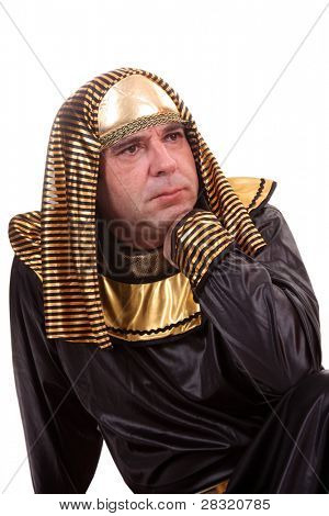 egyptian pharaoh over the pyramids