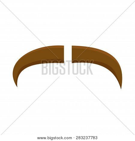 Mustache Brown Mustache White Background
