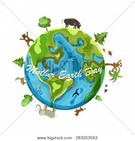Mother Earth Day Cartoon Earth