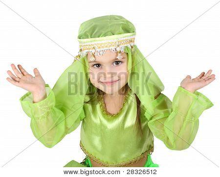 Little Girl Dressed Arabian
