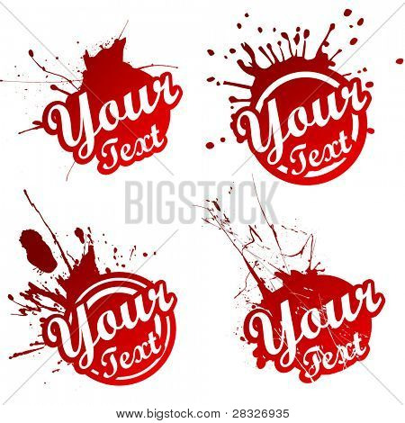 Grungy stickers. Vector Illustration