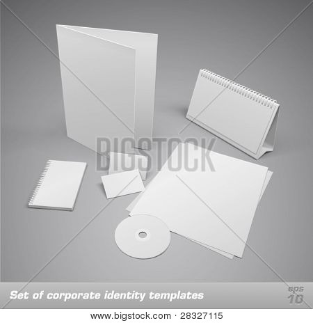 Set van corporate identity sjablonen. Vectorillustratie