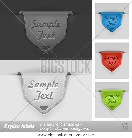 Labels, jeans style. Vector