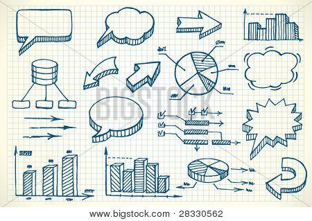 Hand-drawn finance illustration