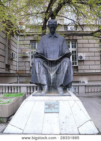 Monument Of Nicola Tesla In Belgrade, Serbia