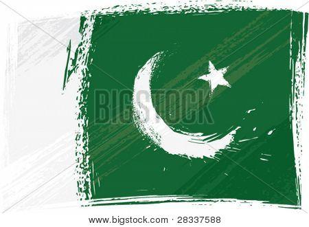 Bandera de Pakistán Grunge