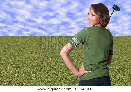 Black Woman Golfer