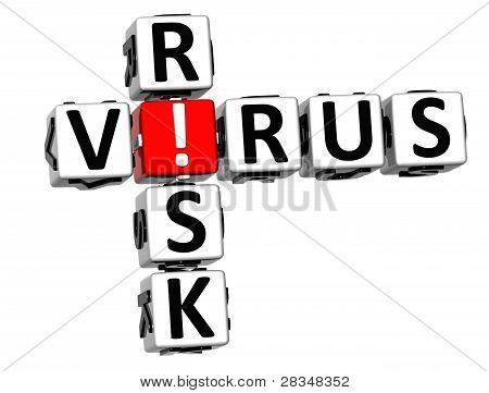 3D Virus Risk Crossword