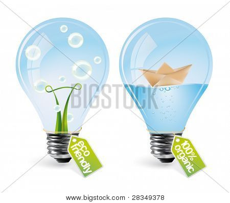Realistic eco bulbs - set 3