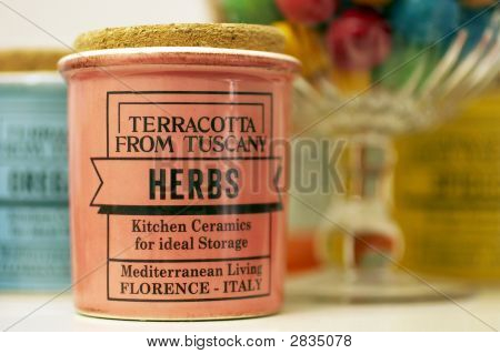 Herbs Pot Pink