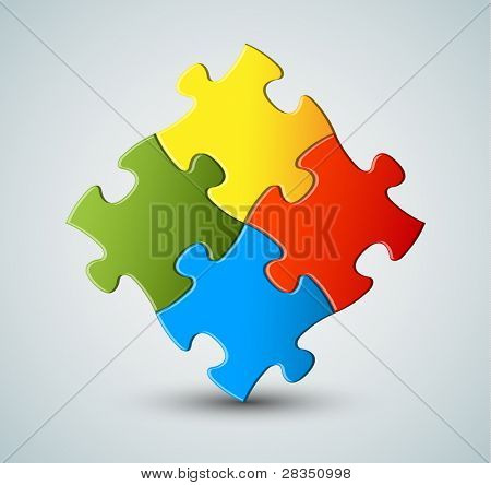 Abstract vector puzzle / solution background