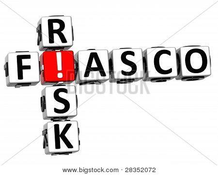 3D Fiasco Risk Crossword