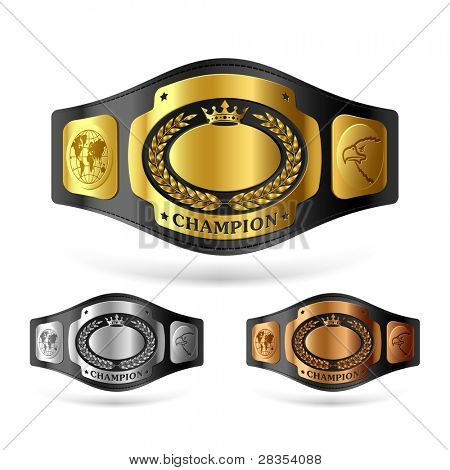 Champion belt. Vector.