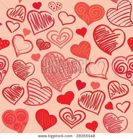 Background with abstract hearts
