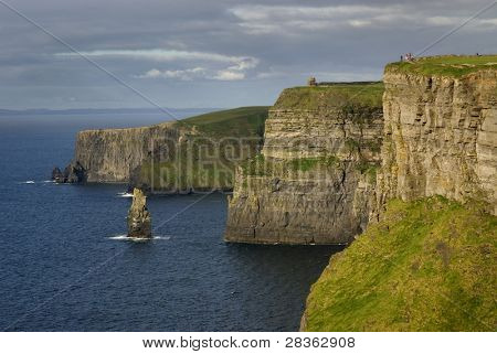 Cliffs of Moher -Ireland- with unrecognizable people