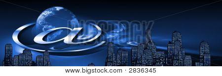Internet Banner Blue