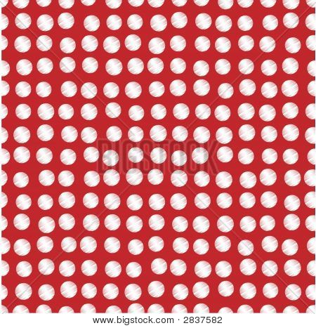 White Scribbled Dots On Red