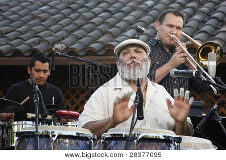 SANTA YNEZ, CA - MAY 30: Poncho Sanchez at 'Rhythm on the Vine' charity event to benefit Shriners Children Hospital at the Gainey Vineyard May 30, 2009 in Santa Ynez, California