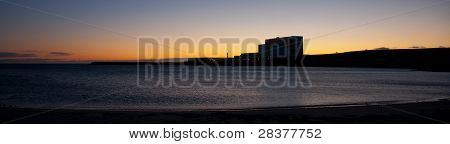 Torness Power Station at dawn