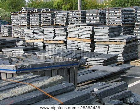 Slate stockpile