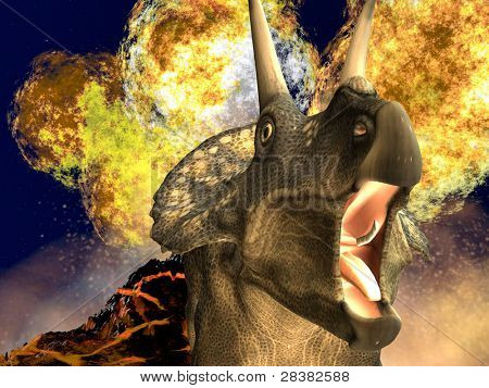 Dinosaur doomsday - diceratops