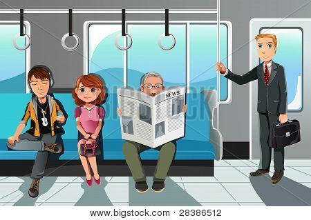 People Riding Train
