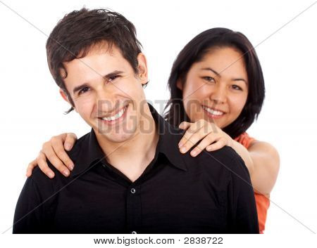 Diverse Happy Couple