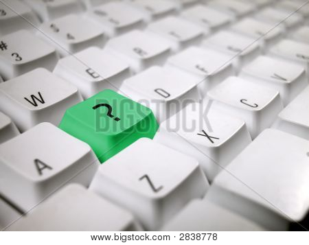 White Keyboard With Question Mark