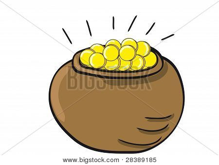 A Pot Full Of Gold Coins