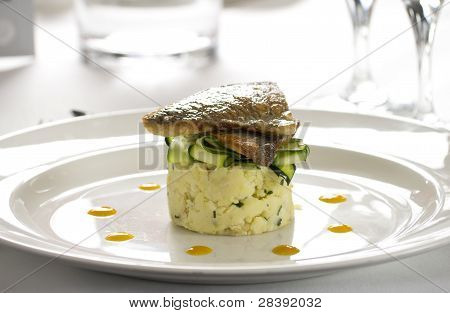 Salmon Gourmet Restaurant Dish
