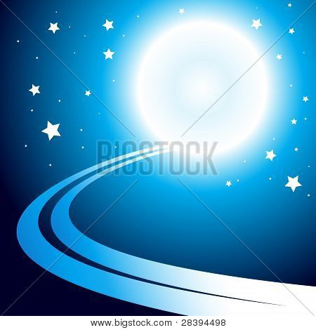 Abstract Background With Moon