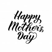 Happy Mother's Day Calligraphy Lettering Isolated On White. Mothers Day Typography Poster. Vector Il poster
