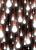 picture of light-bulb  - Illustration of lots of hanging light bulbs - JPG
