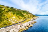 Northern Ireland, Uk. Causeway Coastal Route A.k.a Antrim Coast Road. One Of The Most Scenic Coastal poster