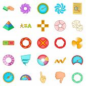 Interface Design Icons Set. Cartoon Set Of 25 Interface Design Icons For Web Isolated On White Backg poster