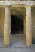 picture of ptolemaic  - Tombs of the Kings Catacombs Paphos Cyprus - JPG