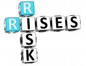 stock photo of fail-safe  - 3D Rises Risk Crossword on white background - JPG
