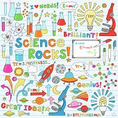 Science Back to School Notebook Doodles Vector Illustration Design Elements Chemestry Physics Icon S