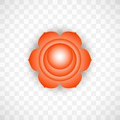 Sacral Chakra Svadhisthana In Orange Color Isolated On Transparent Background. Isoteric Flat Icon. G poster