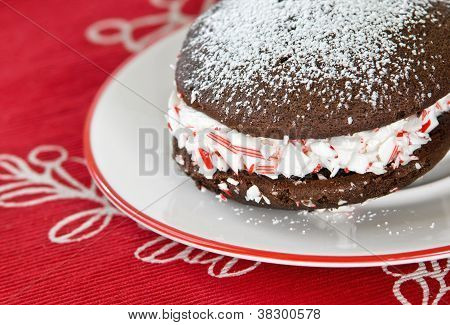 Homemade whoopie pie