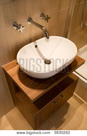 Basin In Luxury Bathroom