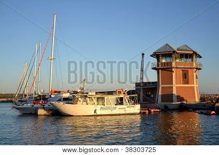 Boats in Marina di Grosseto, Tuscany, Italy