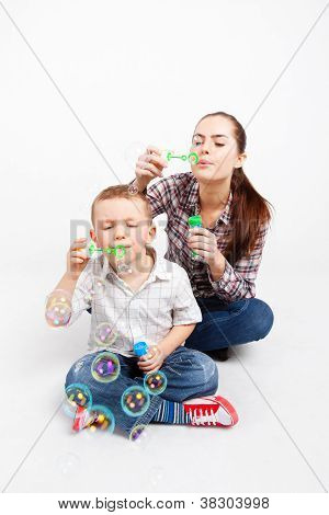 Let,s fun together with soap bubbles