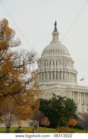 Us Capitol, Washington Dc,  Usa. Autumn.