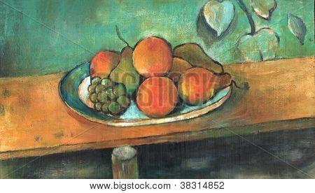 Arcylic Painting Of Fruit