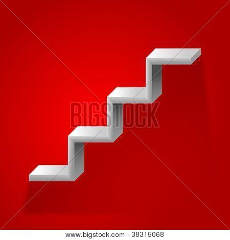 Shelf-shaped stairway