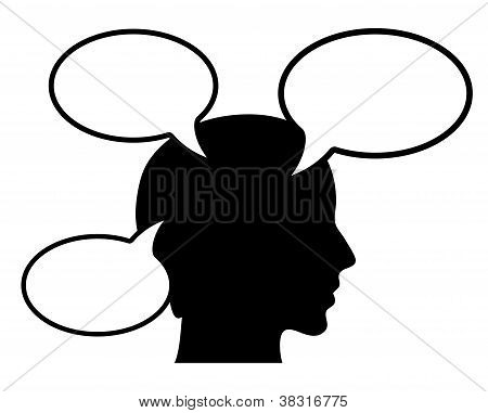 Thinking person vector illustration