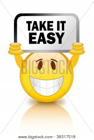 Take it easy emoticon