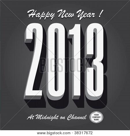 Happy new year 2013 retro vintage tv show