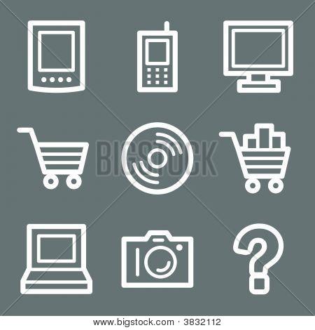 White Electronics Web Icons V2
